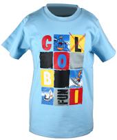 Globi T-Shirt hellblau modern 98/104