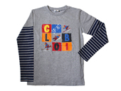 Globi Langarm-Shirt modern grau/blau 110/116, Umschlag gross anzeigen