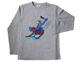 Globi Langarm-Shirt Rodler grau 110/116