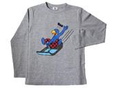 Globi Langarm-Shirt Rodler grau 134/140