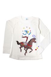 Globine Langarm-Shirt beige Zirkuspferd 110/116