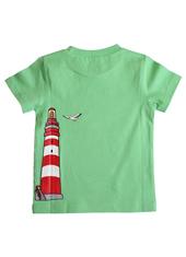 Glöbeli T-Shirt grün Ball/Leuchtturm 86/92