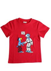 Globi T-Shirt rot Roboter 134/140