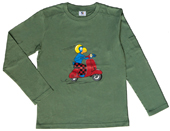 Globi T-Shirt langarm oliv Vespa 122/128