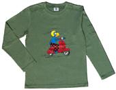 Globi T-Shirt langarm oliv Vespa 134/140