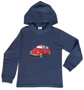 Globi Kapuzen-Shirt langarm blau VW 122/128