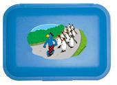 Globi Lunchbox Pinguinparade blau