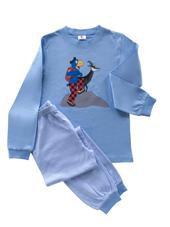 Globi Pyjama hellblau/weiss gestreift Gämse 98/104, Umschlag gross anzeigen