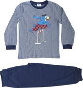 Globi Pyjama duneklblau gestreift Hürdenläufer 134/140