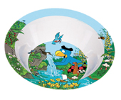 Globi Geschirr Melamin Schale Globi am Wasser