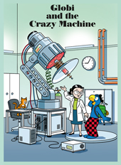 Globi and the Crazy Machine, Umschlag gross anzeigen
