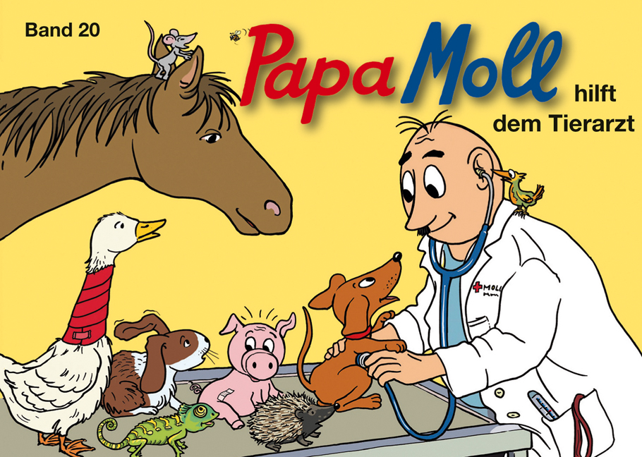 Papa Moll hilft dem Tierarzt, Umschlag gross anzeigen